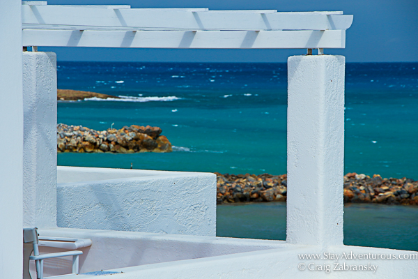 the sea and the colors of crete, greece from the knossos beach resort