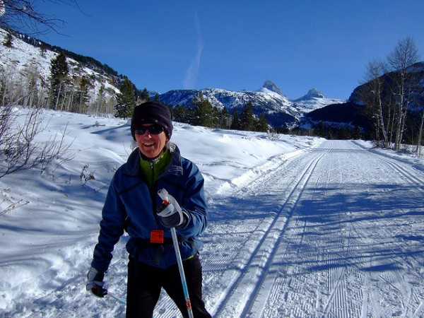 cross country ski inside Grand Teton National Park in the winter