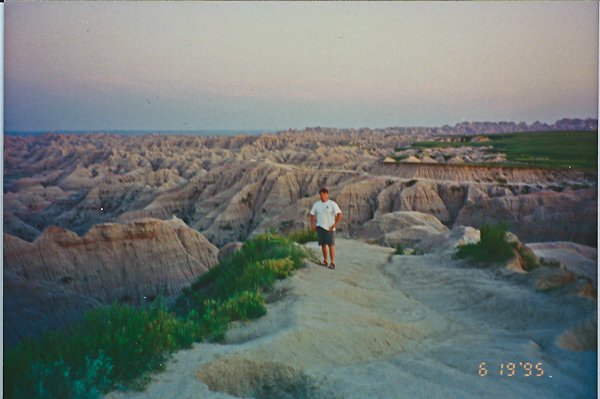 walking the South Dakota Badlands National Park in 1995,