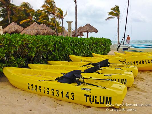 kayak at Dreams Resorts Tulum