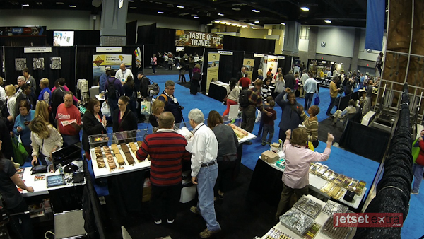 a view of the floor at the DC Travel and Adventure show
