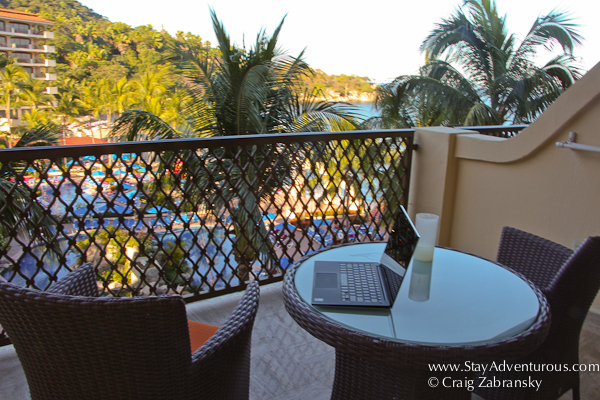 the Dell XPS Ultrabook on the balcony of my room at the Barcelo in Puerto Vallarta, Mexico