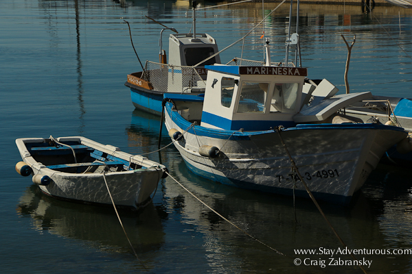 the fishing boats in the marina at L'Ametlla del Mar in Catalonia, Spain