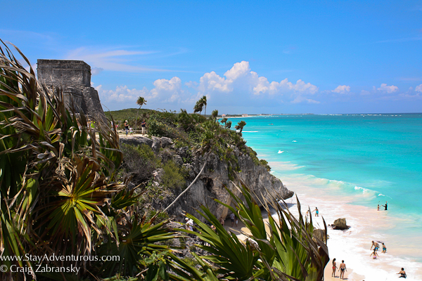 The Mayan Ruins of Tulum are on the coast in the Riviera Maya of Mexico