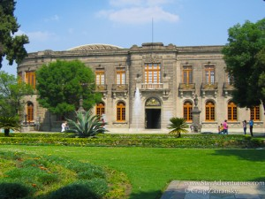 a view of chapultepec castle in mexico city, mexico