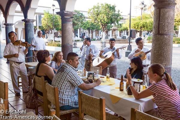 the plaza inside Comala, Colima, Mexico - Eirc Mohl