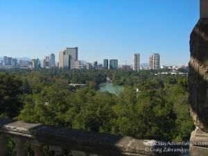 the view of the Mexico City from Chapultepec Castle