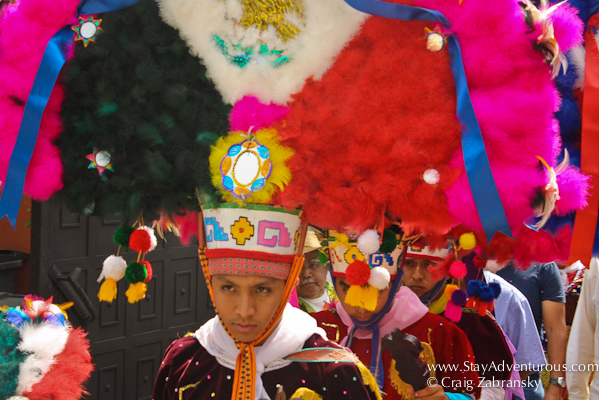 Headdress in ceremony from San Martin Tilcajete, Oaxaca, Mexico