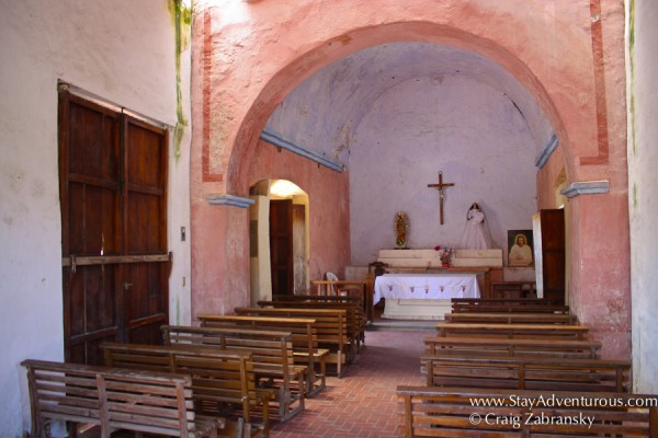 inside the chapel of the rosary in la antigua, veracruz, mexico