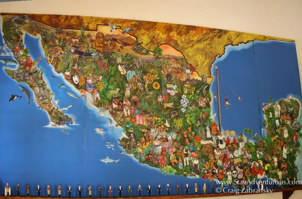 colorful map of mexico, it is made up of 31 states, the united mexican states.