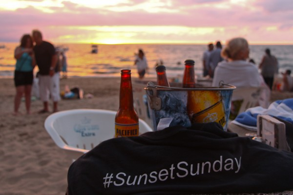 Sunset from Playa de los Muertos, Puerto Vallarta, Jalisco, Mexico
