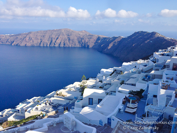 the view of imerovigli, santorini