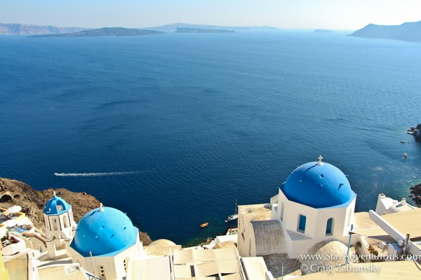 the best view of Santorini from Oia