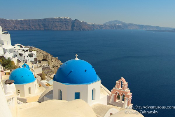 the classic view of Oia, from the best views Santorini
