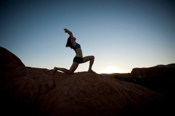 yoga outside with Sol Fit Adventures in Utah