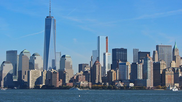 Freedom Tower and the New York City downtown skyline