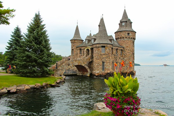 Boldt-Castle in the 1000 islands, Alexandria Bay, St Lawrence River