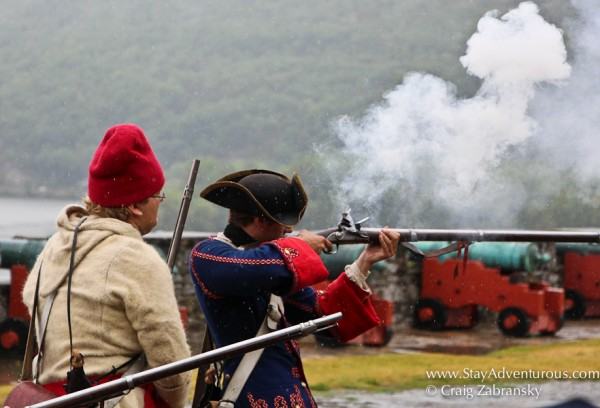Firing Muskets at Fort Ticonderoga in Upstate New York