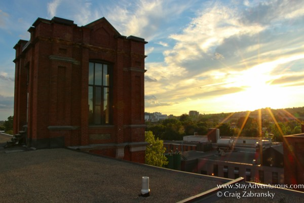 Montreal rooftop Sunset