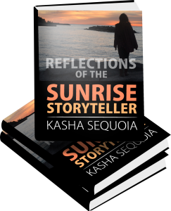 book cover and details on Reflections of the Sunrise Storyteller
