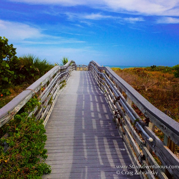the path to Bill Baggs Cape Florida State Park on Key Biscayne