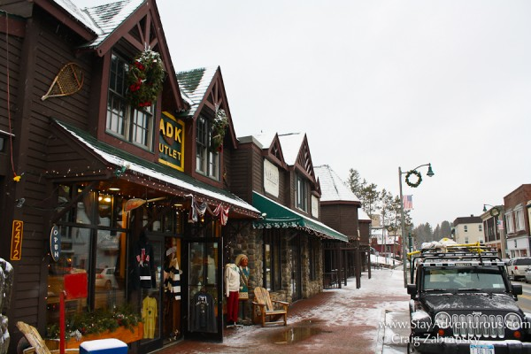 the main street of Lake Placid in the Adirondacks on New York