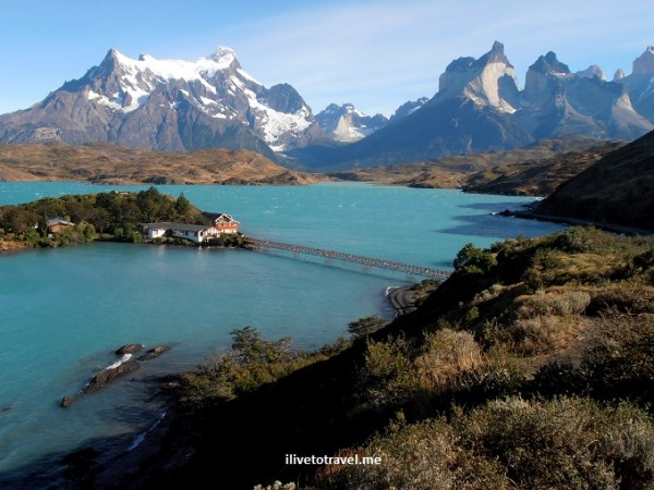 This is a picture of the famous Torres del Paine in Chilean Patagonia