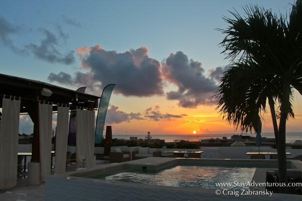 sunrise from the rooftop of the Palm at Playa in Playa Del Carmen