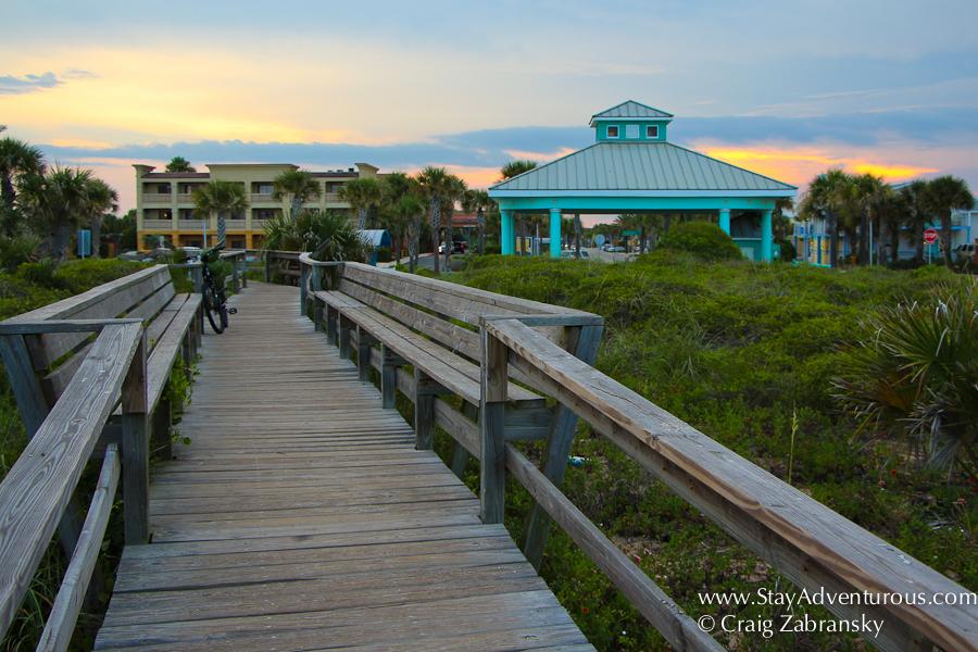 Vilano beach walkway