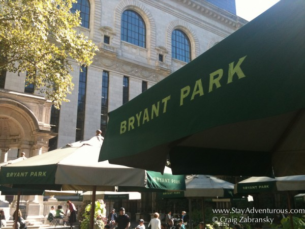 Bryant Park, a favorite NYC destination for a coffee