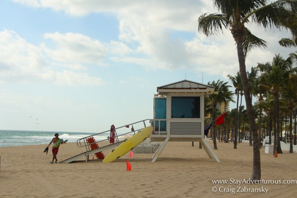 life guards on the beaches of fort lauderdale, florida