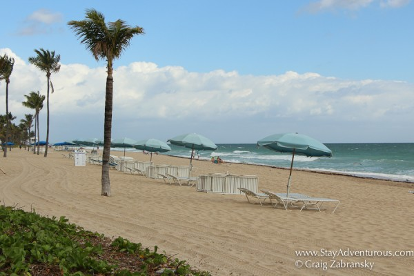 morning view of ft lauderdale beach, florida