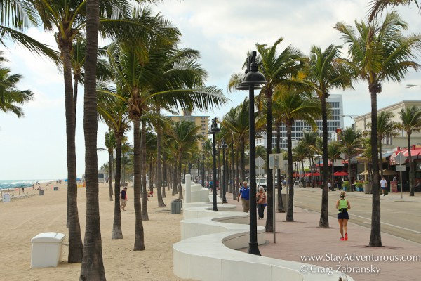 the seaside promendade in flrot lauderdale beach, Florida