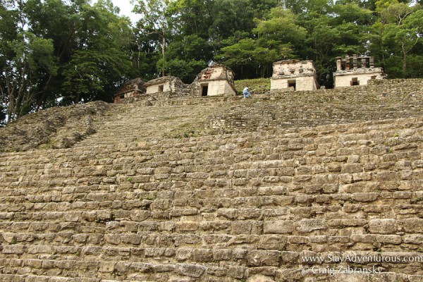 the the mayan ruins on Bonampak