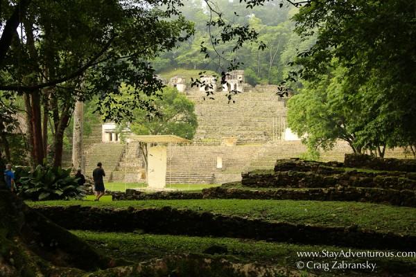 Entering the mayan ruins of bonampak in chiapas, mexico