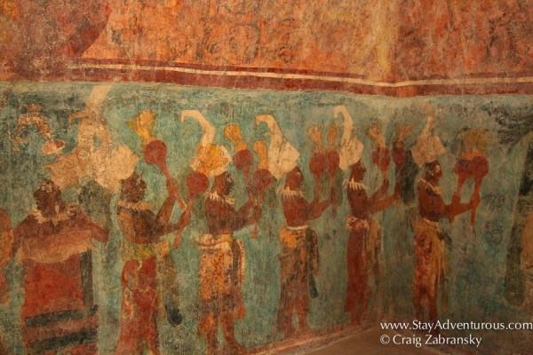 the mayan murals of Bonampak, the Bonampak Paintings