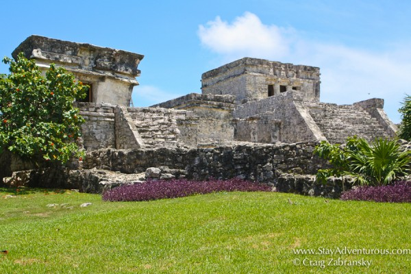 the pyramid of el castillo, tulum, mayan ruins in mexico
