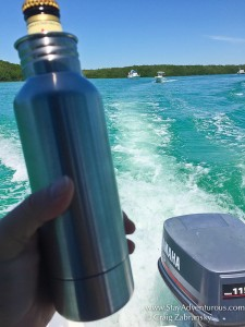 bottle keeper of the boat, florida keys