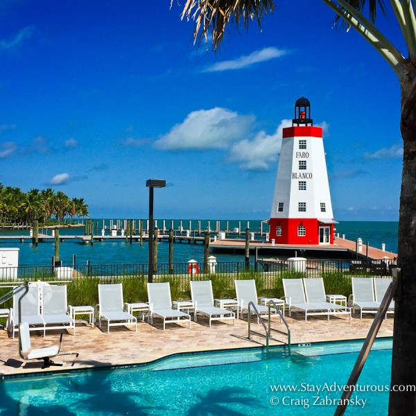 the Lighthouse at Far Blanco Resort and Marina in Marathon, Florida Keys