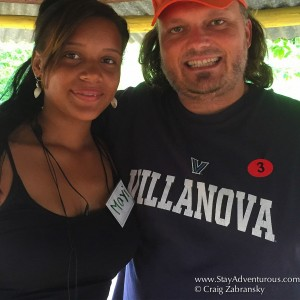 a thankful head of household after teaching community english, fathom excursion in the Dominican Republic