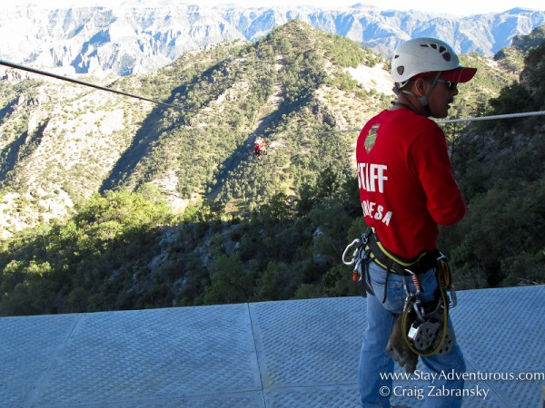 zipline across Copper Canyon and Chihuahua Adventure Park