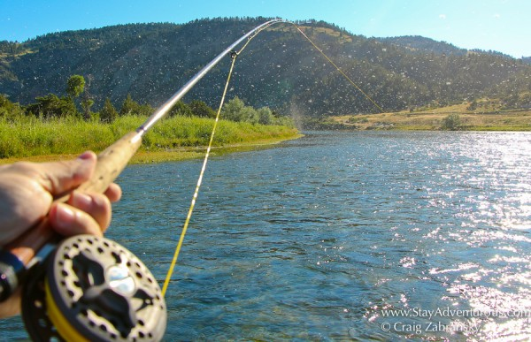 fly fishing on the Missouri River outside of Craig, Montana