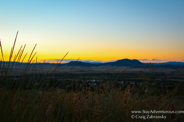 sunset in helena montana