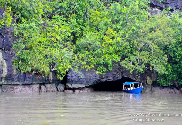 the caves when exploring the limestone caverns and mangroves in langkawi malaysia