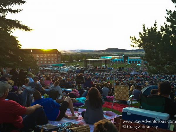 the tailgate of blankets at the symphony under the stars in helena, montana