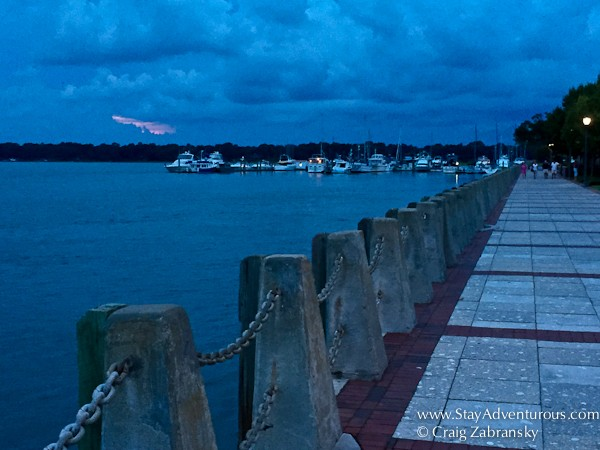 sunset in beaufort, south carolina