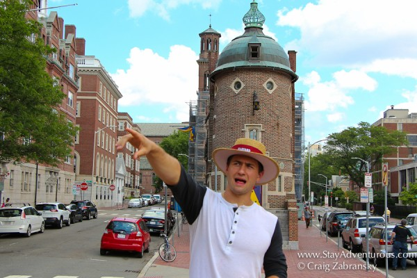 john, a tour guide from the Hahvahd Tour in Harvard University