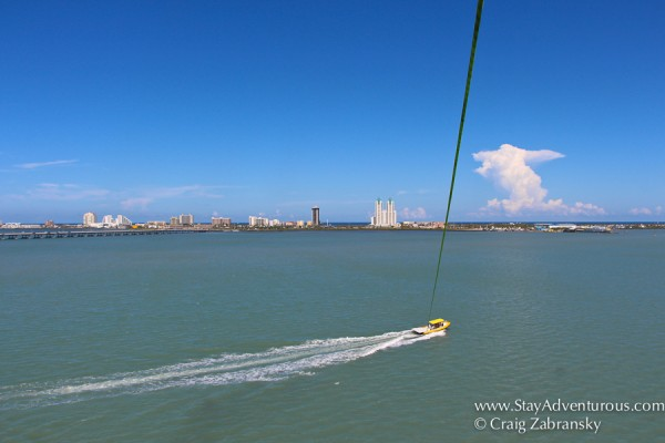 parasailing on south padre island, texas