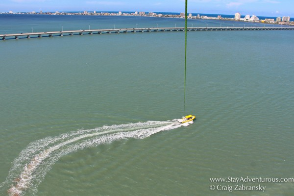 parasailing in south padre island, texas with breakers