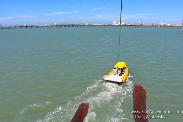 Parasailing in South Padre Island Texas